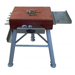 Billot Bois Pieds Alu Réglables Blacksmith avec Support outils
